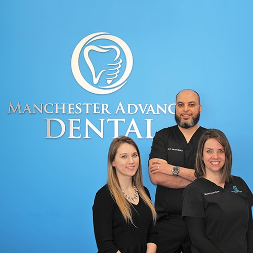 The Manchester Advanced Dental team with Dr. Fouad Yadani, your Manchester family and cosmetic dentist